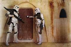 A detachment of sandtroopers were dispatched to the surface of the planet Tatooine, where they searched for the missing Death Star plans. Raduno Legioni STAR WARS - 7 Maggio 2016 Montecatini Terme (Alessandro_Morandi) Tags: star 7 wars maggio terme montecatini 2016 raduno legioni