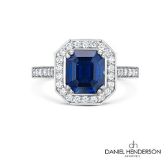 Blue Saphire Ring (dhjewellers) Tags: beautiful diamonds design scotland engagement edinburgh engagementring ring jewellery alpine proposal engaged platinum solitaire newdesign poppingthequestion jewelleryworkshop diamomd solitairering diamondsetting edinburghbloggers
