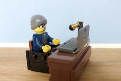 Podcasting (thereeljames) Tags: podcast film movie lego legos minifig podcasting minifigure legopics legophotography