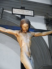 Wooden crucified Christ (1493-1494) by Michelangelo (Caprese 1475-Rome 1564) - Santo Spirito Church in Florence (* Karl *) Tags: wood italy florence christ cross jesus firenze michelangelo crucified