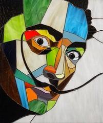 Stained glass portrait of Salvador Dali, Pop Art (blashchukartstudio) Tags: stainedglass popart salvadordali