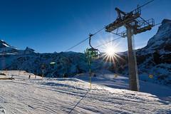 The ride up to paradise (Almsoo7) Tags: sun mountain snow landscape star switzerland europe day afternoon skii cablecar zermatt matterhorn