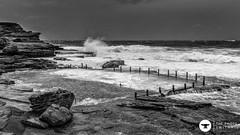 Swimmer on the storm (The Photo Smithy) Tags: sea blackandwhite storm monochrome swimming waves sydney australia nsw maroubra oceanbath mahonpool