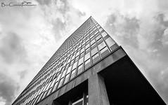 The Obligatory Arts Tower Photo (Billy Clapham) Tags: city urban blackandwhite bw monochrome clouds skyscraper buildings landscape mono nikon sheffield wideangle lookingup tall towerblock artstower ultrawideangle universityofsheffield d7100 1024mm nikond7100