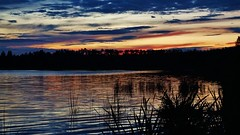 Dreamy sunset (Astotin Lake) (krystyna p) Tags: astotin astotinlake park nationalpark elkislandnationalpark alberta canada lake cloud clouds sunset color colorful july summer evening