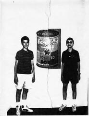 Erik, Matt, Campbell's Soup 1988 (unlikelymoose) Tags: soup twins photocopy campbells