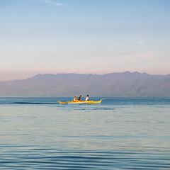Sakayan (EkimMaacap) Tags: green mountains sea sky pumpboat boat sakayan cebu moalboal basdaku yellow people travel beach camping colors fujicolors fujifilmxe2 fujifilmkitlens ekim tonal range