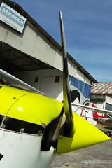 The Blade (Antnio A. Huergo de Carvalho) Tags: yellow airplane shark aircraft aviation amarelo sharks blade avio propeller prop cessna aviao p hlice c152 tubaro cessna152 aerocon aviaogeral ptfca