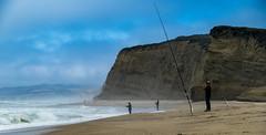 Teach a man to fish... (thecheetahexpress) Tags: ocean california summer sun beach drive coast fishing sand rocks waves pacific pebble fisher 17 mile