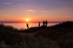Getting That Sunset Shot (Curtski22) Tags: blokhus denmark light ocean sea seaside shore silhouette sunset water