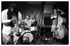 Wadada Leo Smith/Mark Sanders/John Edwards @ Cafe Oto, London, 23rd July 2016 (fabiolug) Tags: trumpet bass doublebass drums drummer wadadaleosmith marksanders johnedwards trio improvisation improv cafeoto london dalston music gig performance concert live livemusic leicammonochrom mmonochrom monochrom leicamonochrom leica leicam rangefinder blackandwhite blackwhite bw monochrome biancoenero leicaelmarit28mmf28asph elmarit28mmf28asph elmarit28mm leicaelmarit28mm 28mm elmarit leicaelmarit wide wideangle