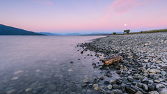 lake Te Anau - Full moon rising (Michael S Betz) Tags: 2015 d7000 neuseeland urlaub newzealand lake moon see te anau southisland 1020 sigma graduatedfilter cokin longexposure langzeitbelichtung verlaufsfilter wideangle weitwinkel