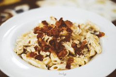 Truffles Pasta with Bacon (Daniel Y. Go) Tags: fuji fujixpro2 xpro2 philippines truffles pasta bacon food frazzledcook