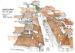 Montauban, juillet 2016 (gerard michel) Tags: france midipyrnes montauban architecture panorama sketch croquis