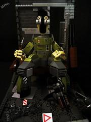 """ WAR IZ HELL "" (LEGOMINDED) Tags: war death machine bigbrotha propaganda fear ammo gun swords rebellion revolution worldwar sheep"