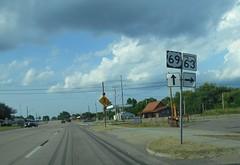 Kiowa, OK- US 69 (jerseyman65) Tags: 20150629dallastook oklahoma roads routes travel ushighways usroutes okroutes signs shields guidesigns highways