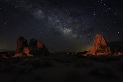 Alabama Hills Milky Way Redlight (scun11) Tags: landscape night milkyway alabamahills california ca easternsierras sierras stars nightscape summer nature rocks lonepine longexposure lowlight westcoast scenic outdoors
