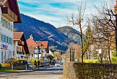 Street in East Germany (Dominique.B88) Tags: 1855 d5300 dslr germany hills houses mountains neuschwanstein nikon outdoor people photography road street travel trees ccars