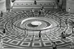 Foucault's Pendulum attracts visitors - Pantheon, Paris B&W (Monceau) Tags: panthon foucaultspendulum looking down visitors blackandwhite monochrome historic