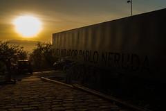 Mirador Pablo Neruda, Santiago. (Katherine Ruiz Atal) Tags: atardecer cerro paisaje naturaleza arte