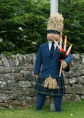 A Piper in the family (sarniebill1) Tags: sarniebill1 brora scottishpiper scarecrows scarecrowfestival highlandpiper bagpipes truescotsman