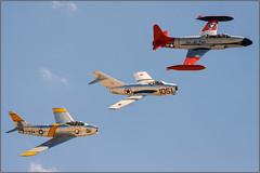 Classic '50s Jets (Ernie Visk) Tags: fighter jet sabre lockheed trainer jetplane canadair f86 shootingstar t33 mig15 northamerican fighterjet jetaircraft jetairplane