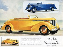 1938 DeSoto Convertibles (aldenjewell) Tags: sedan 1938 convertible brochure coupe desoto