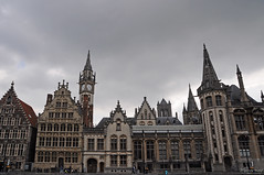 Gent's houses (_MissMoneyPenny_) Tags: houses panorama river view belgium fiume case vista ghent gent gand belgio