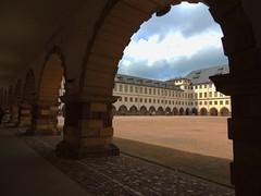 schöner Bogenrundgang am Schloss Friedenstein Gotha (Sophia-Fatima) Tags: thüringen gotha atrium bogengang schlossfriedenstein