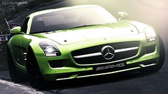 Brit Brat (lifegphotos) Tags: sunset vacation portrait green art cars nature car sunshine sunrise germany photography mercedes rich sunny german mercedesbenz wealthy wallpapers luxury sls amg granturismo carphotography