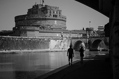 follow you,follow me (TIBBA69) Tags: city urban rome roma canon river fiume streetphotography tevere biancoenero followyoufollowme andreatiberini