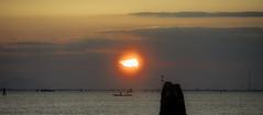 Ride In The Sunset (Pino Snorr) Tags: italien venice sunset sky italy sun black color love water clouds landscape italia outdoor h verona venezia venedig gondoler veneto ilovepizza lidodivenezia