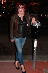May 2016 (Patrice Bailey) Tags: leather bar club out glasses tv cd crossdressing tgirl transgender jeans tranny transvestite denim crossdresser crossdress ts gurl tg tgurl
