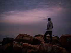 The dreamer part 1 (densshod) Tags: ocean longexposure light portrait color clouds contrast landscape sweden outdoor country olympus