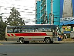 Davao Metro Shuttle (Monkey D. Luffy 2) Tags: road city bus public photography photo nikon philippines transport motors vehicles transportation coolpix daewoo vehicle santarosa society davao philippine enthusiasts cityliner bf106 philbes