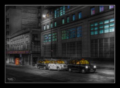 Whitworth Street West (Kevin From Manchester) Tags: street england building architecture manchester northwest taxi transport lancashire citycentre hdr canon1855mm kevinwalker canon1100d