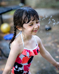 DSCF0710 (djandzoya) Tags: water backyard play candid sprinkler fujifilm provia fenya