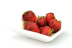 Project 366 - 5/3/2016 - 124/366 (cathy.scola) Tags: red fruit strawberry strawberries whitebackground waste rotten odc project365 project366