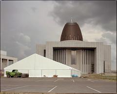 Warsaw, Poland. (wojszyca) Tags: 120 mamiya church mediumformat concrete temple kodak religion shift poland bunker warsaw epson 6x7 portra megalomania gossen 160 rz67 75mm badarchitecture 4990 lunaprosbc