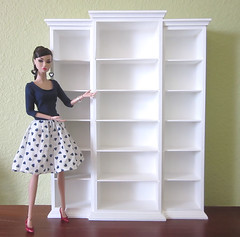 The library bookcase has arrived! (MurderWithMirrors) Tags: miniature doll library bookshelf 16 bookcase bookshelves mwm teendream poppyparker