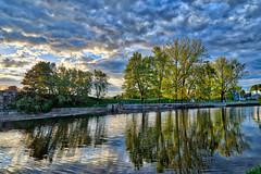 HDR sur la rivire Nicolet (guysamsonphoto) Tags: clouds rivire nuages reflexions reflets hdr victoriaville victo nikond600 rivireduqubec rivirenicolet guysamson nikon2585 aurorahdrpro
