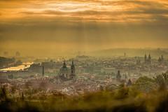 Prague morning (sony.vega) Tags: city morning sun clouds sunrise river cityscape republic czech prague vltava