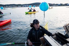 Small Amanda Luminary flotilla Seattle PI and associated press at Break Free PNW 2016 photo by GRANT HINDSLEY 1024x1024 (Backbone Campaign) Tags: water justice washington energy kayak break action politics protest creative paddle shell free social demonstration oil change wa environment activism anacortes campaign pnw refinery climatechange climate tesoro artful backbone renewable refineries 2016 kayaktivist kayaktivism breakfreepnw
