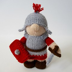 Antonius the Roman Soldier (Knitting patterns by Amanda Berry) Tags: boy amanda rome boys toy soldier toys berry knitting doll dolls roman handmade crafts knit fluff sword shield knits knitted armour crafting fuzz centurion legionary gladiator knitters asterix antonius