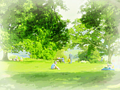Newlands Corner ..Families and Picnics .. (John(cardwellpix)) Tags: uk corner sunday families may sunny surrey guildford newlands 29th picnics albury 2016 merrow