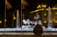 La noche Cibeles (mArregui) Tags: madrid fuente nocturna cibeles lacibeles fotografanocturna wwwarreguimeluscom marregui