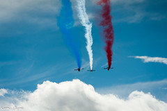 Patrouille de France (karmajigme) Tags: blue red white paris france color army nikon aircraft air arme patrouille