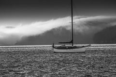 Spencer Spit, Lopez Island - Washington State (RobMatthews) Tags: washingtonstate sanjuanislands sailing spencerspit lopezisland fog mist sailboat