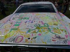 The Bad Karma Impala, Lambeth Country Show 2016 (Loz Flowers) Tags: london cars graffiti publicart impala lambeth brockwellpark domesticabuse badkarmaimpala imogenpaton lambethcountryshow2016