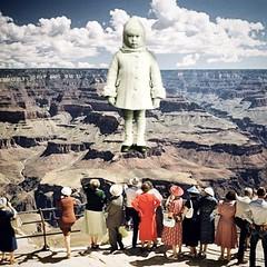Visitor (Flamenco Sun) Tags: disturbing odd view weird surrealisn grandcanyon visitation alien ufo